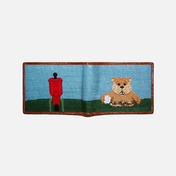 Smathers & Branson Gopher Golf Needlepoint Bifold Wallet