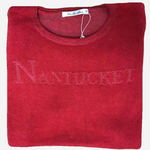 Alashan Cotton & Cashmere Nantucket Sweater - Red