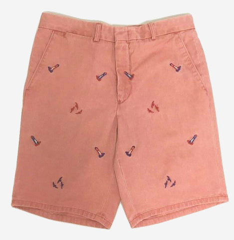 Nantucket Reds™ M Crest Collection Men's Tailored Fit Embroidered Lighthouse Shorts