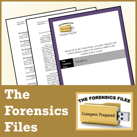The Forensics Files: NSDA LD Nationals 2019 File