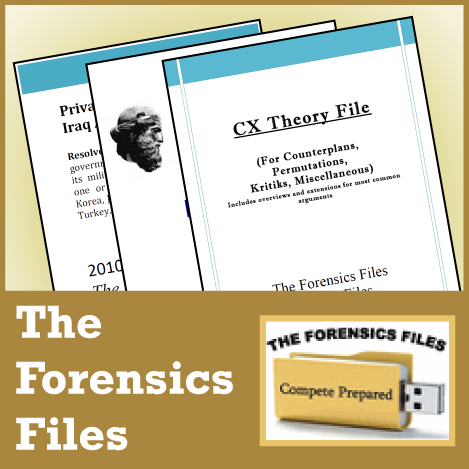 Introduction to High School Debate and Logic Textbook and Workbook from The Forensics Files - SpeechGeek Market