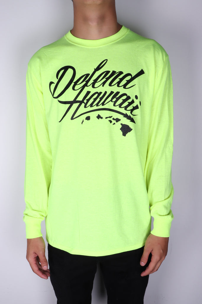 DH ! WILDSTYLE LOGO LONGSLEEVE  SAFETY.GREEN BLACK