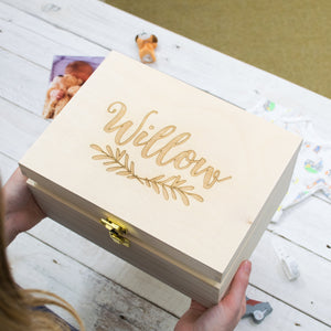 Personalised Laurel Newborn Keepsake Box