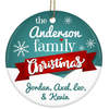 Family Names Personalized Ceramic Christmas Ornament