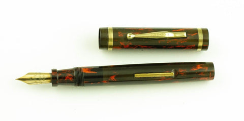 Carter, 4125 Fountain Pen, Black & Red Hard Rubber w/Gold fill Trim - VP4719