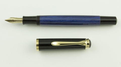 Pelikan, M400 Souveran Fountain Pen, Blue w/Black Cap & Gold Plated Trim - GU291-PR