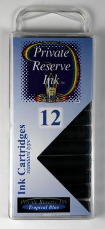 Private Reserve Ink - Tropical Blue Ink Cartridges 12 Pack