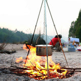 Outdoor Camping Picnic Cooking Tripod For Cast Iron Hanging Pot For Campfires