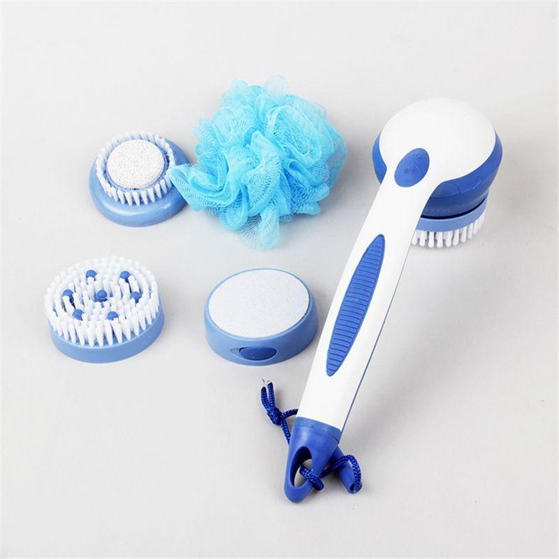 Spinning Spa Brush With Free Easy Feet Scrubber