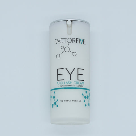 FactorFive Eye & Lash Cream + Human Stem Cell Factors .5 oz
