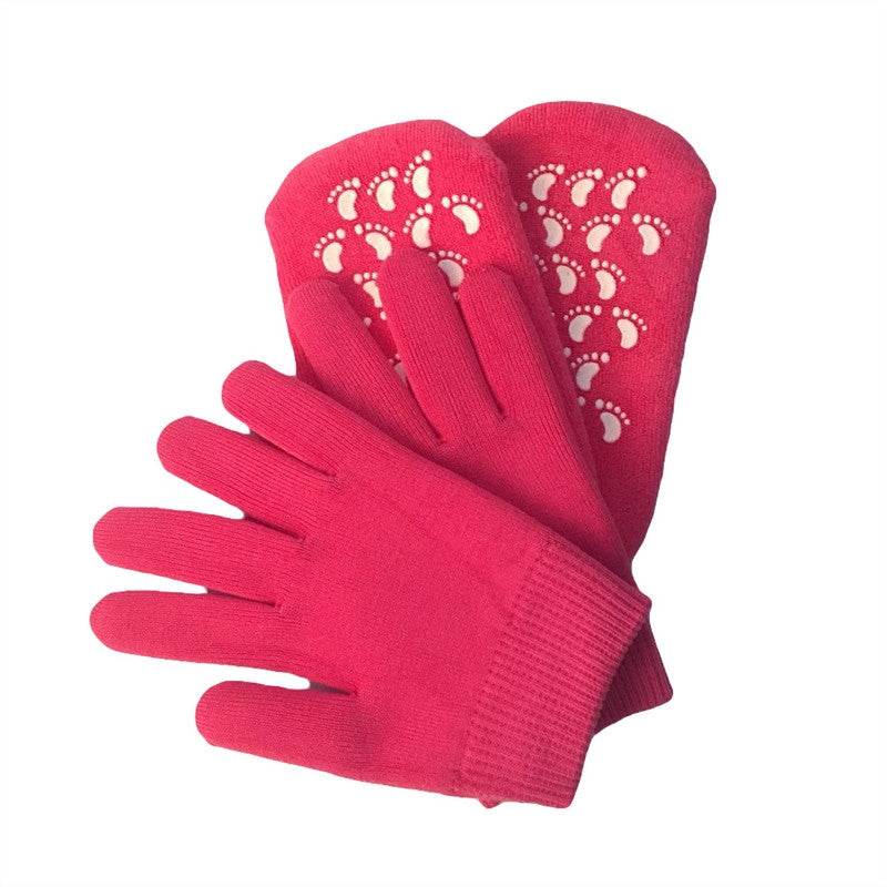Gel Moisturizing Spa Gloves and Socks Soft Cotton with Thermoplastic Gel Repair and Heal Eczema Cracked Dry Skin