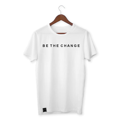 WHITE T-SHIRT / BE THE CHANGE