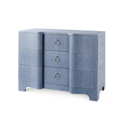 BARDOT 43 INCH 3 -DRAWER LARGE CHEST, NAVY BLUE