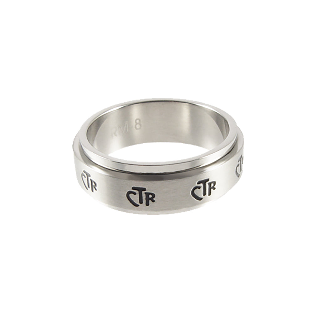 Spinner CTR Ring - Narrow - stainless steel (engravable)