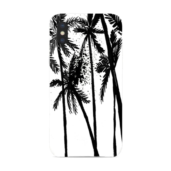 Black Palm Trees phone cover