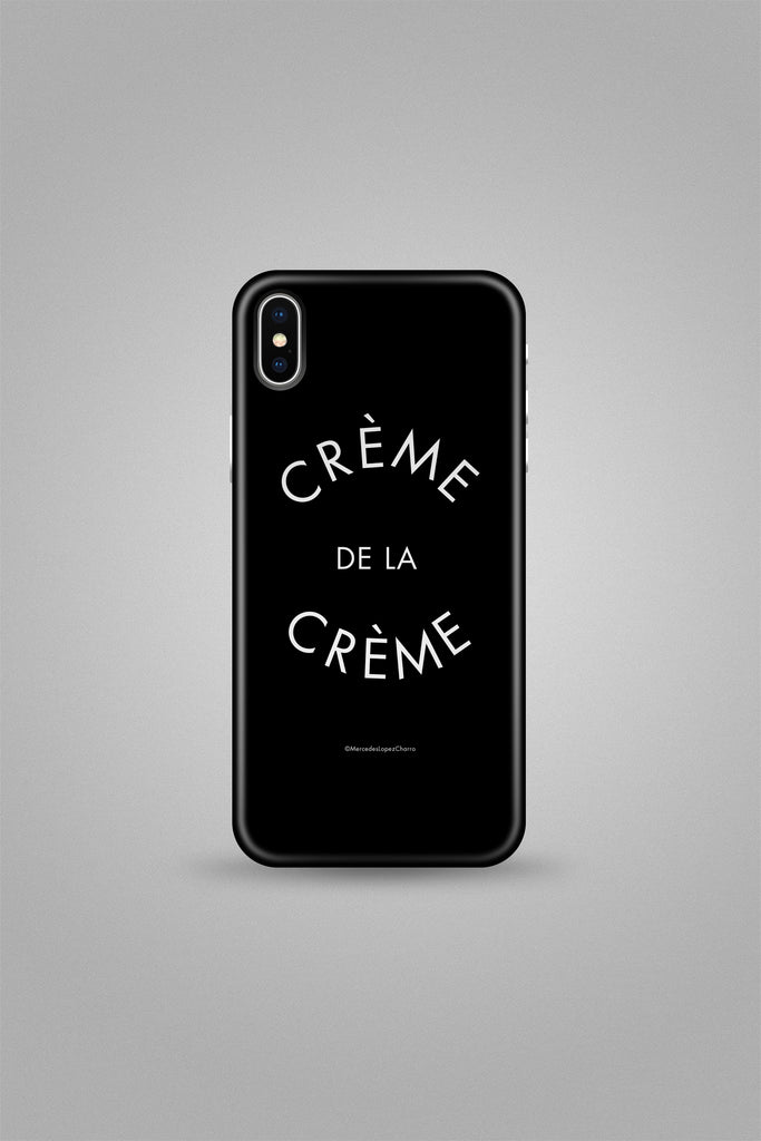 Creme de la Creme black phone cover
