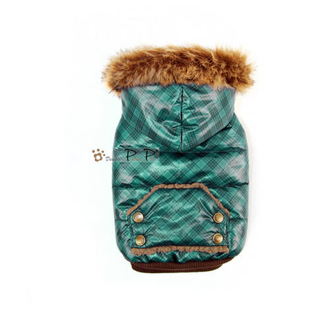 Teal Winter Dog Coat