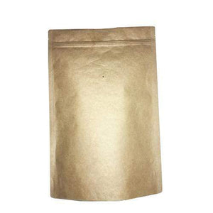 4 Ounce Foil Lined Stand-Up Zip Pouch Coffee Bag with Valve - TAN KRAFT