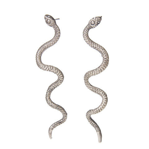 Swirly Snake Earrings