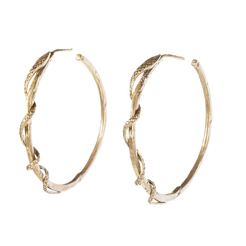 Serpent Wrap Hoops