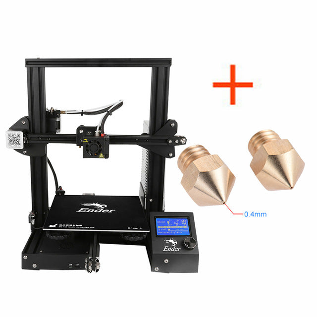 Creality 3D Ender-3 3D Printer High-precision DIY Kit Self-assemble with Resume Printing Function Add 1KG Filament Optional - Primo Print