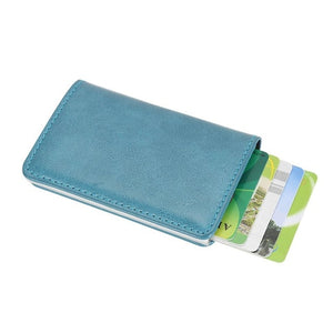 Fashion credit card holder Men Women Alloy Leather