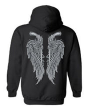 Load image into Gallery viewer, Women's/Unisex Zip-Up Hoodie Beautiful Angel Wings