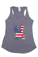 Load image into Gallery viewer, Women's USA Flag Tri-Blend Tank Top American Bald