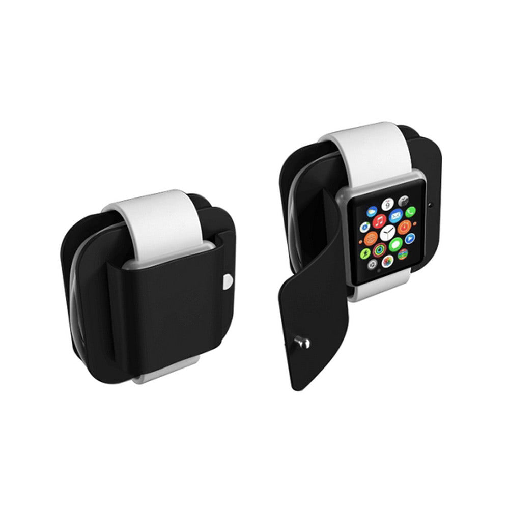 Portable Charging Wallet for Apple Watch Series 1/2 Soft Silicone Charge Holder Stand Charging Dock Station Protective Storage Carrying Case for iWatch 38mm & 42 mm All Models