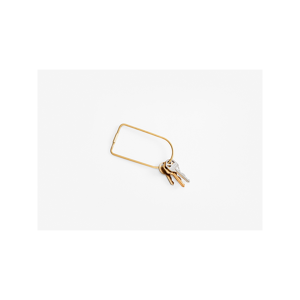 AREAWARE Contour Key Ring - Brass Bend | the OBJECT ROOM