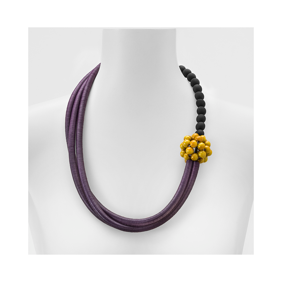 MARINA & SUSANNA SENT Glass Necklace - Mora Violet Mustard | the OBJECT ROOM