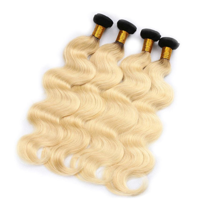 Sulmy 1 Bundle 1b/Blonde Two Tone Colored Body wave Ombre Brazilian Human Hair Weave ombre hair weave SULMY