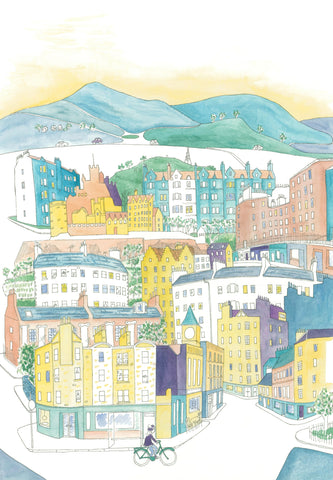 Edinburgh Watercolour Print