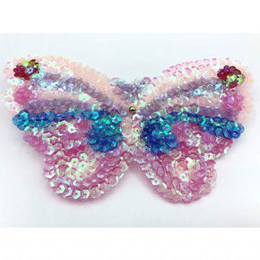 "Trimplace Sequin Butterfly Applique 6"" wide x 3 1/2"" high"