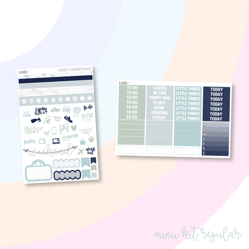Cozy Christmas Vertical Planner Sticker Kit, Christmas Sticker Kit - Grab these stickers for your planner and let's get to it! - Let's Make It Sparkle