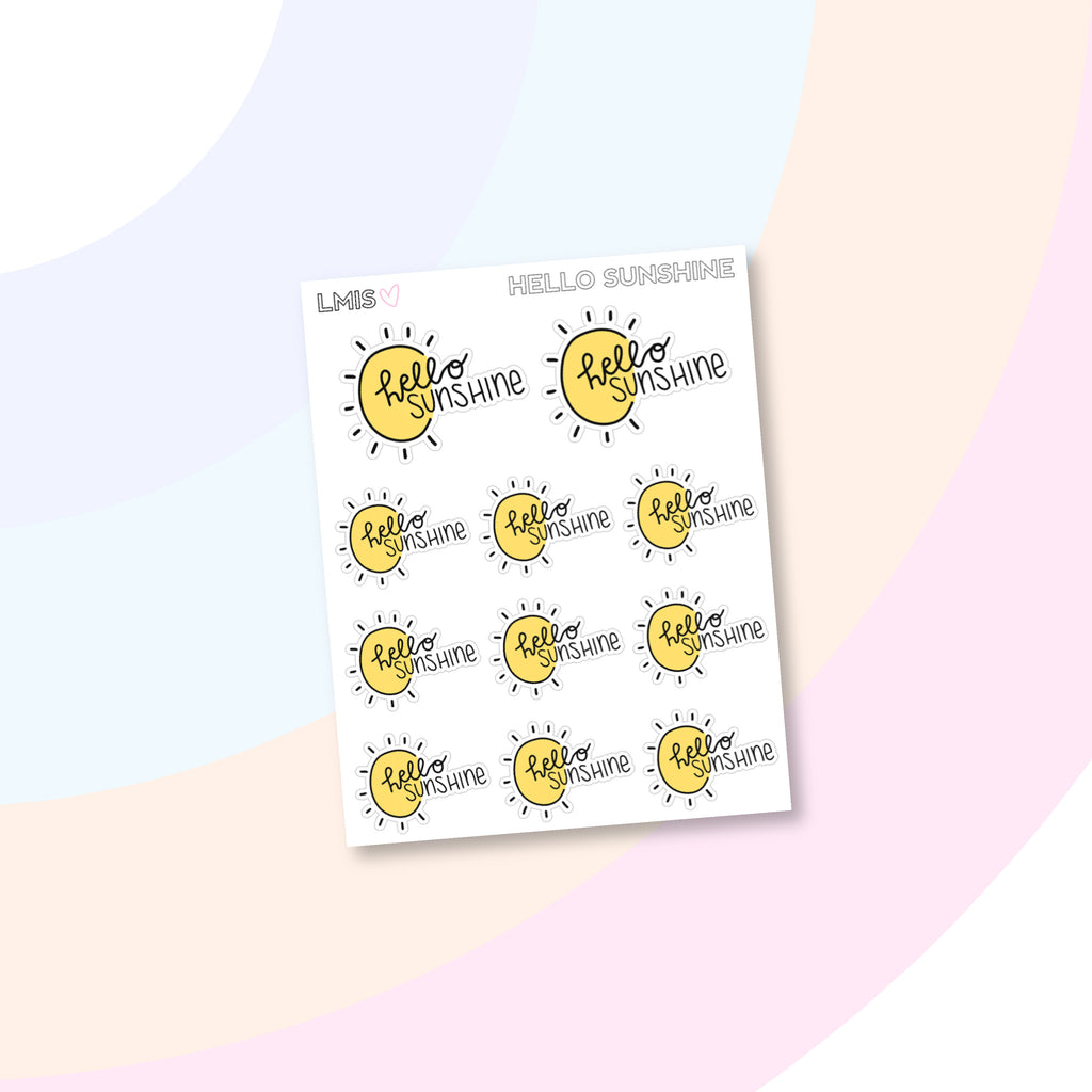 Hello Sunshine Doodle Stickers - Grab these stickers for your planner and let's get to it! - Let's Make It Sparkle