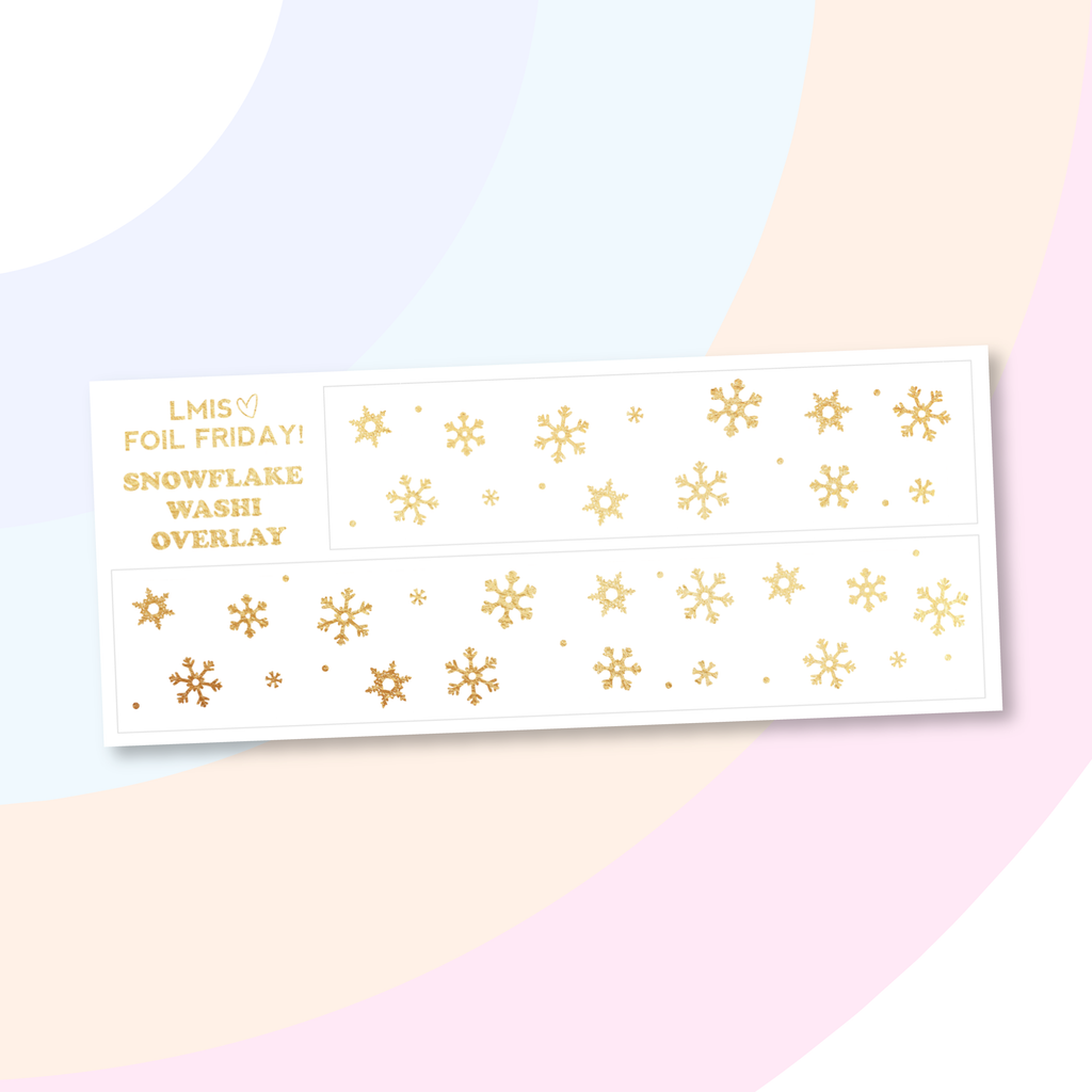 Foil Friday! Snowflake Bottom Washi Overlay Planner Stickers - Grab these stickers for your planner and let's get to it! - Let's Make It Sparkle
