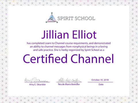 Jillian Elliot - Certified Channel Certificate