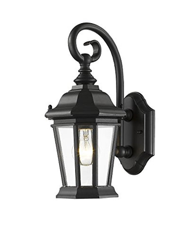 1 Light Outdoor Wall Light 541S-BK