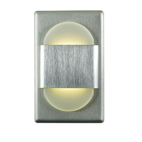 Alico Industries WLE105DR32K-10-98 EZ LED Step Light, Brushed Aluminum Finished Trim with Opal Acrylic Lens
