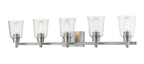 5 Light Vanity, Clear Seedy, Glass Shade, Brushed Nickel  Frame  Z-Lite Vanity Lights llightsdaddy.myshopify.com lightsdaddy
