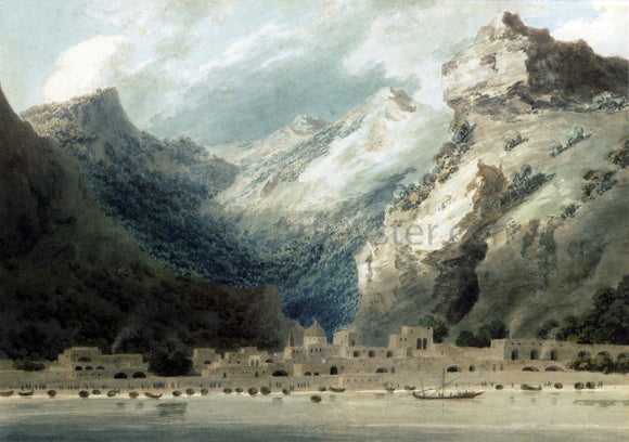 John Robert Cozens Cetera, Gulf of Salerno - Canvas Art Print