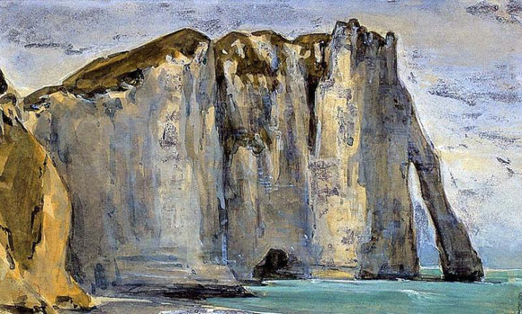Eugene Delacroix Cliff at Etretat - Canvas Art Print
