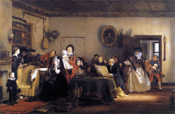 Sir David Wilkie Reading the Will - Canvas Art Print