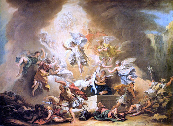 Sebastiano Ricci Resurrection - Canvas Art Print