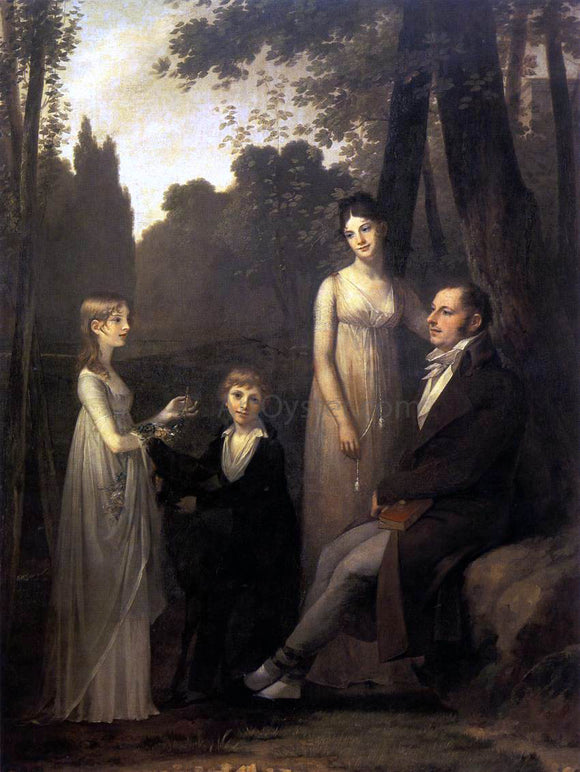 Pierre Paul Prudhon Rutger Jan Schimmelpenninck with his Wife and Children - Canvas Art Print
