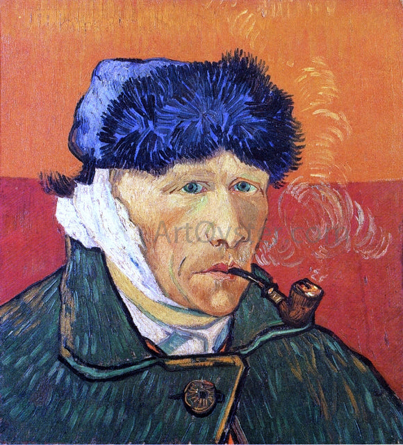 Vincent Van Gogh Self Portrait with Bandaged Ear and Pipe - Canvas Art Print