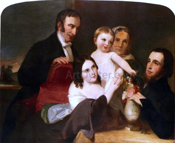 Thomas Sully The Alexander Family Group Portrait - Canvas Art Print