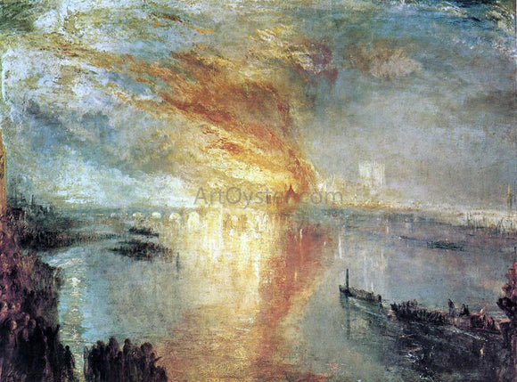 Joseph William Turner The Burning of the Houses of Lords and Commons, October 16, 1834 - Canvas Art Print