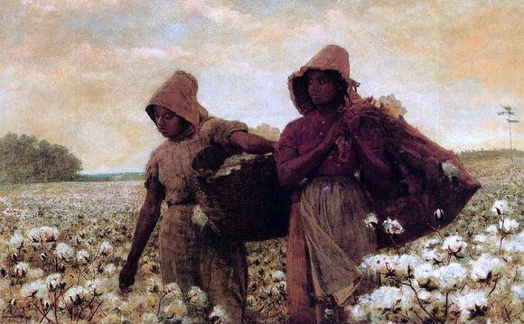 Winslow Homer The Cotton Pickers - Canvas Art Print